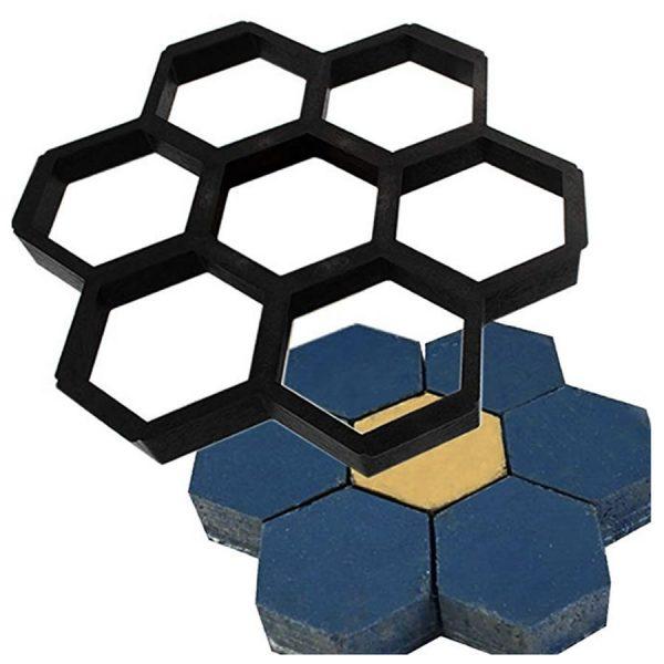 diy hexagon garden path molds
